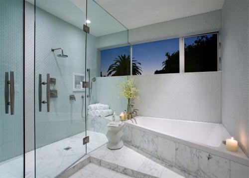 Contemporary bathroom design House in Cheviot Hills of Los Angele Built a House in Cheviot Hills of Los Angele