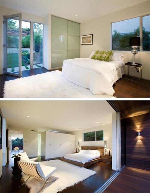 Contemporary bedroom designHouse in Cheviot Hills of Los Angele Built a House in Cheviot Hills of Los Angele