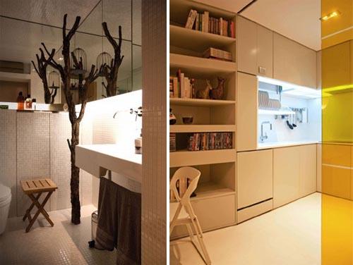 Hi-Tech Interior Design for Small Apartment