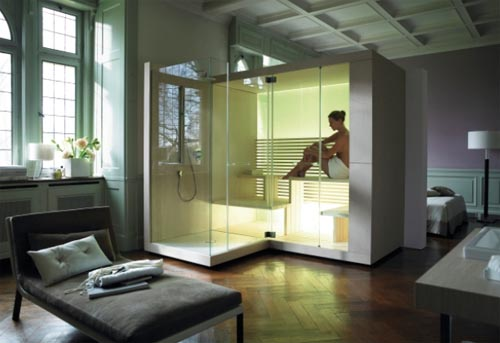 Great Sauna for Bathroom and Living Area by Eoos