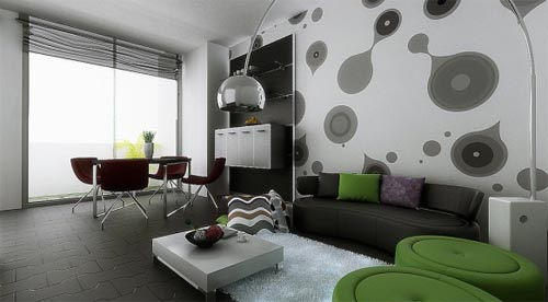 Small Space Interior Modern Cool Living Dining Room Design Idea