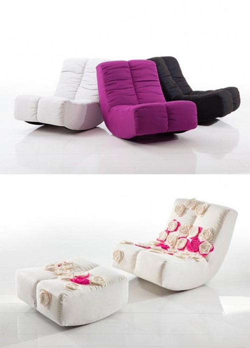 Most Cozy and Comfortable Rocking Chair by Kati Meyer-Brühl