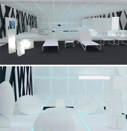 Tron interior modern interior design 1 Modern and Futuristic Interior Design Inspirations