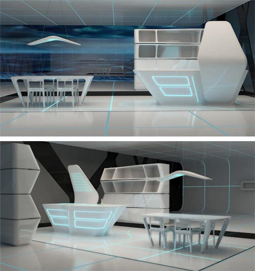 Tron interior modern interior design 2 Modern and Futuristic Interior Design Inspirations