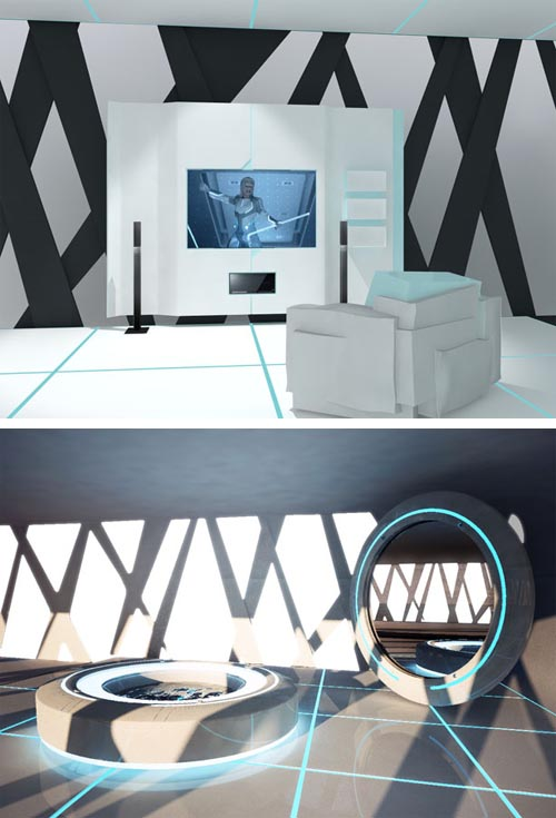 Tron interior modern interior design 3 Modern and Futuristic Interior Design Inspirations