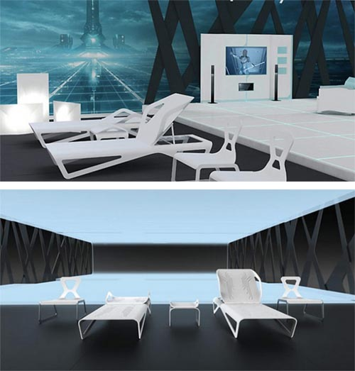 Tron interior modern interior design 4 Modern and Futuristic Interior Design Inspirations
