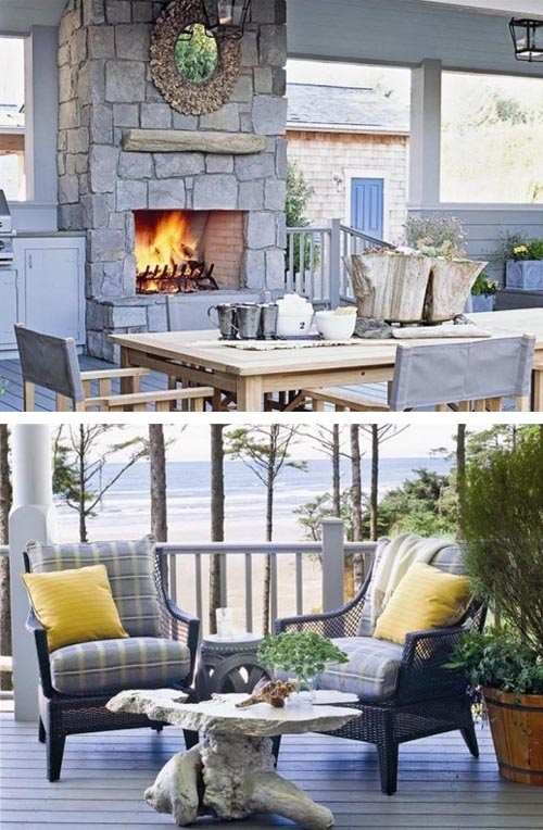 Coastal Style Patio Deck Seating Decor | Interior Design ...