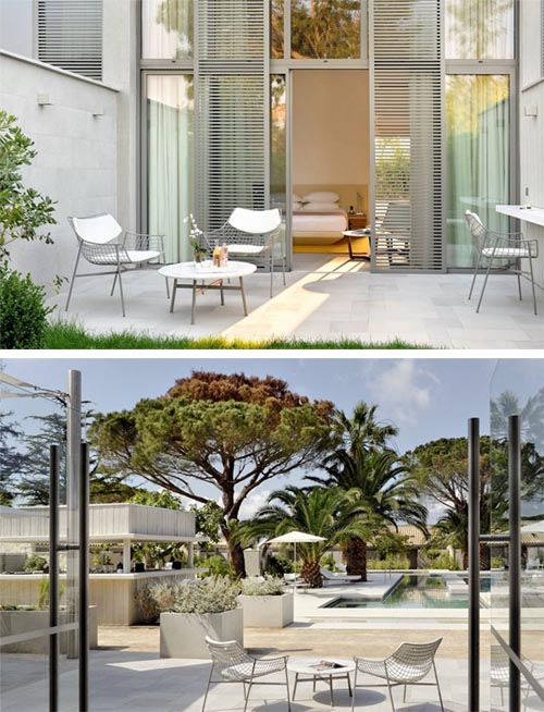 Luxury hotel sezz saint in saint tropez france interior for Hotel design france