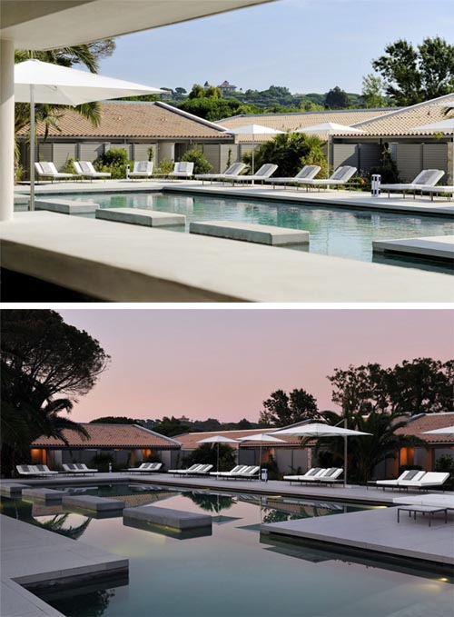 Luxury Pool Luxury Hotel Sezz Saint Luxury Hotel Sezz Saint in Saint Tropez, France, Interior Design by Christophe Pillet