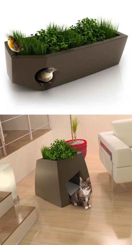 Double Function of Modern Cool Planters, Creative Planters Ideas