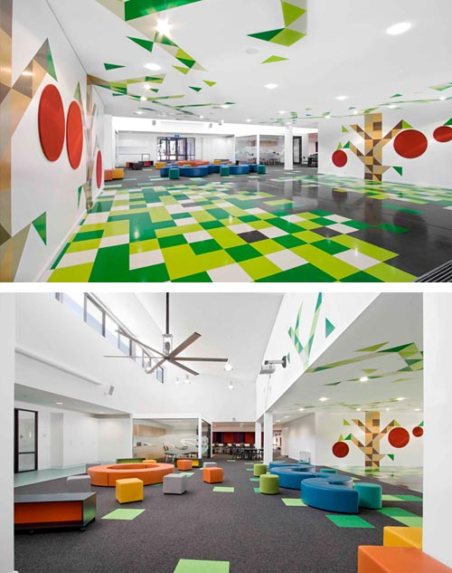 Playful and lively school interior Presents Interesting and Lively Study and Playroom for Kids Into Home Interior