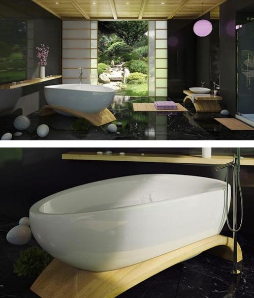 Elegant Freestanding Bathtub by MAAX Collections, Most Comfortable Bathtubs