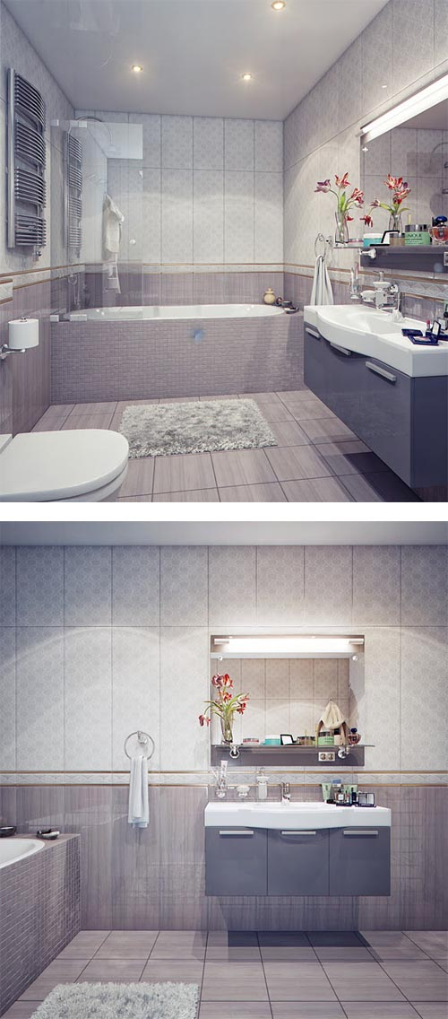 Classic, Modern and Luxury Bathroom by Irina Schastlivaya