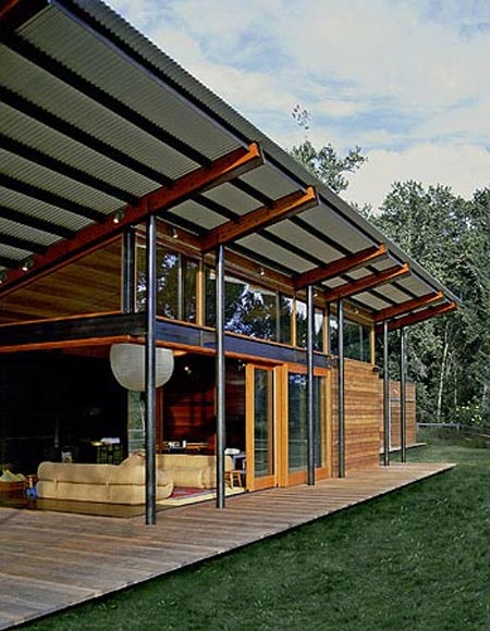 broadford farm pavilion with glass walls create an open air interior design architecture. Black Bedroom Furniture Sets. Home Design Ideas