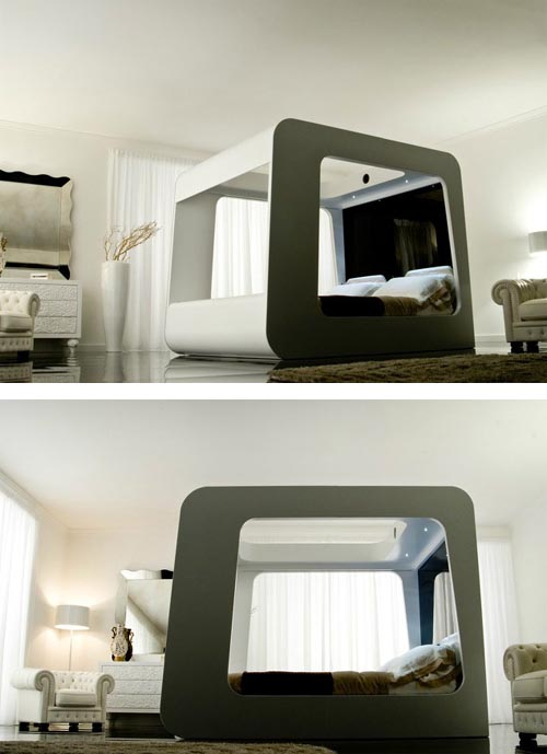 Luxury HiTech Bed with Built in TV Luxury Bed Design Ideas