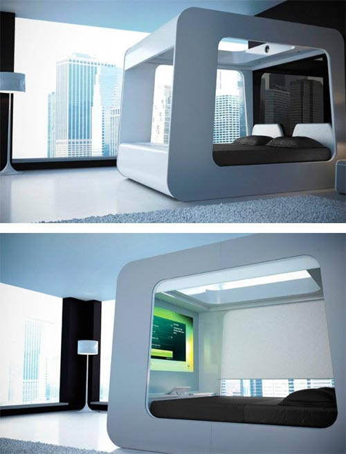 Luxury Telivision Bed Hi Tech Bed Luxury Hi Tech Bed with Built in TV | Luxury Bed Design Ideas