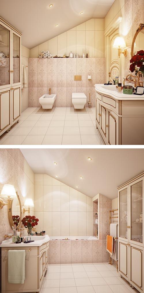 Classic, Modern and Luxury Bathroom by Irina Schastlivaya
