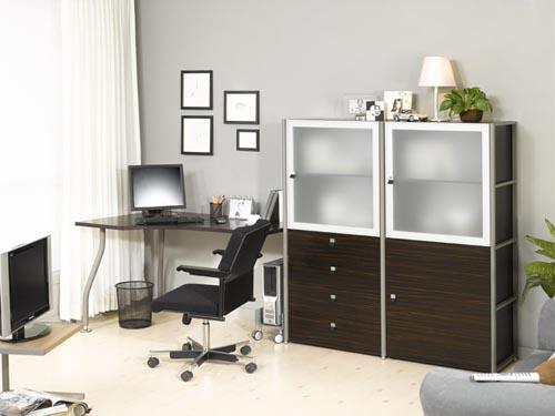 Modern White Home Office Interior