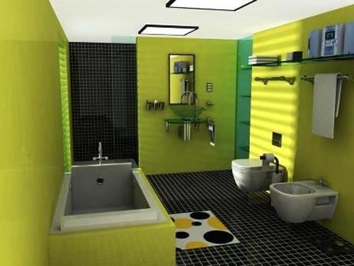 Beautiful Cool Yellow Bathroom Ideas