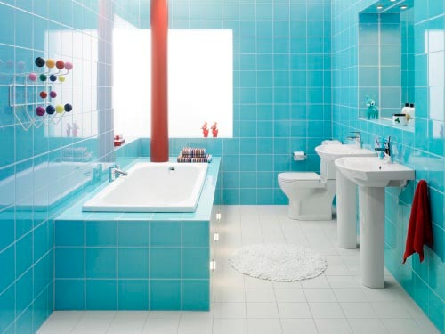 How to Refreshing Bathroom Using Color Combination