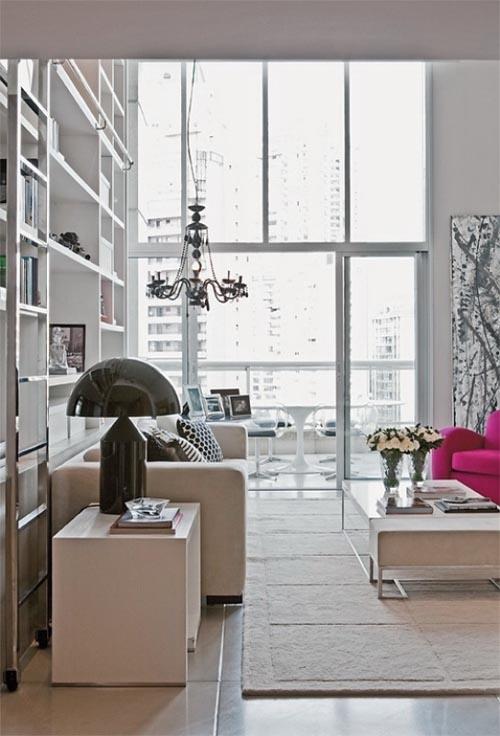 Modern minimalist apartment with modern furniture in for Modern minimalist apartment interior