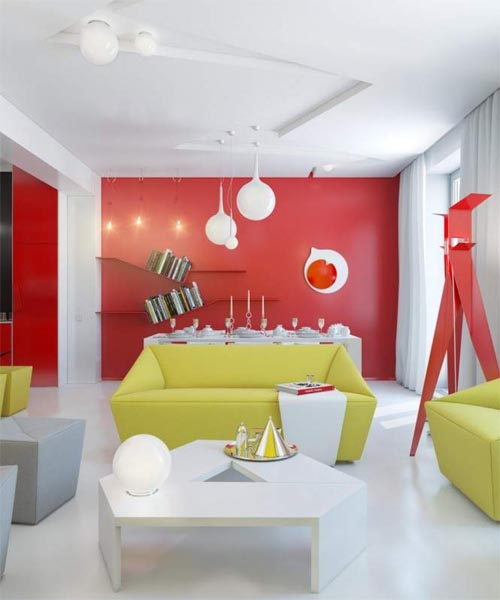 Cheerful colors aprtment Cheerful Colors Small Apartment for More Fun Living