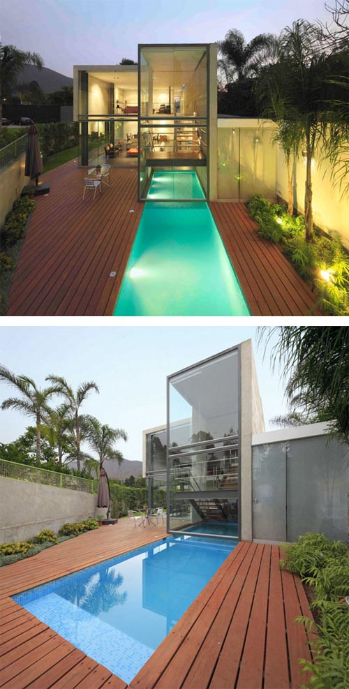 Contemporary residence in Peru Contemporary Residence with Impressive Swimming Pool in Peru