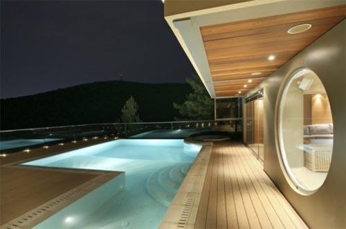 Amazing House Design in Athens with Futuristic Interior