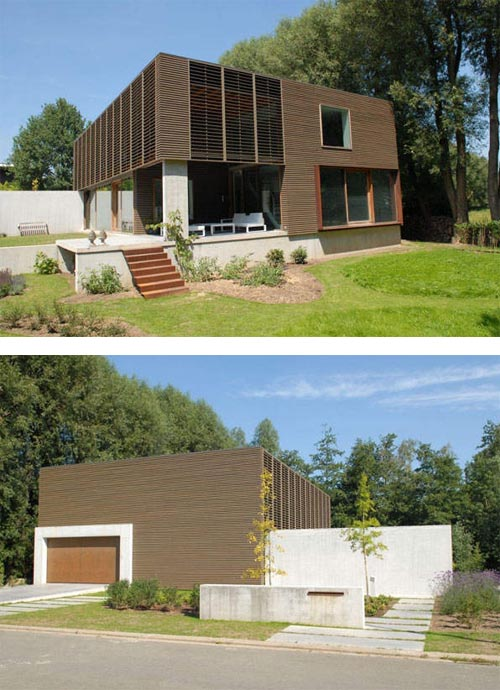 Modern timber clad home Modern Timber clad Home, Modern Residence in Belgium