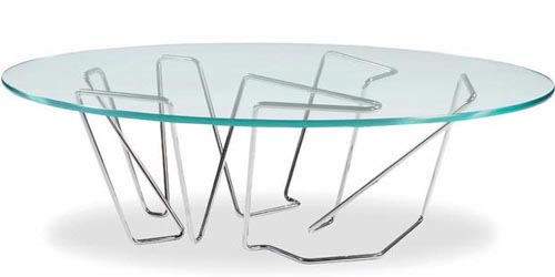 Art Deco Glass Table by Brad Pitt Luxury Furniture Work of Brad Pitt Will Be Launched Soon