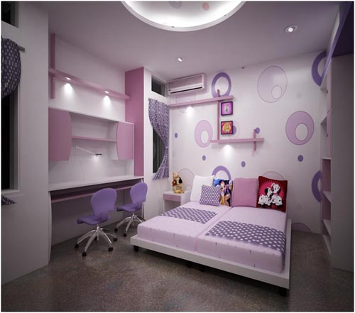 Purple Kids Bedroom Interior Design The Basic Standard to Maintain