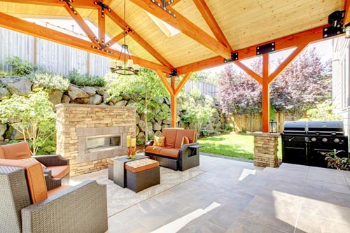 5 stunning backyard designs in your budget interior for Backyard living room ideas